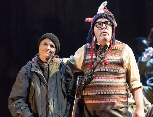 Sinead Cusack as Kent and Lloyd Hutchinson as the Fool